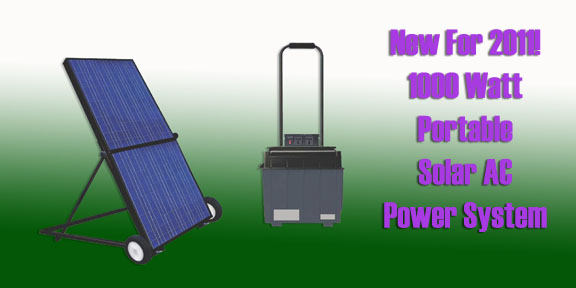 new portable solar ac system